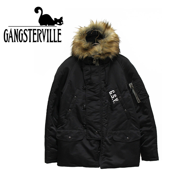 GANGSTERVILLE/ギャングスタービル by GLADHAND - THUG - N3B JACKET - ロゴプリントデザインN-3Bジャケット本品はポイント+1倍です!