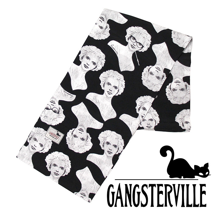 GANGSTERVILLE/ギャングスタービル by GLADHAND- Virginia Stole -オリジナル総柄プリントストール※日本国内 送料・代引手数料無料※