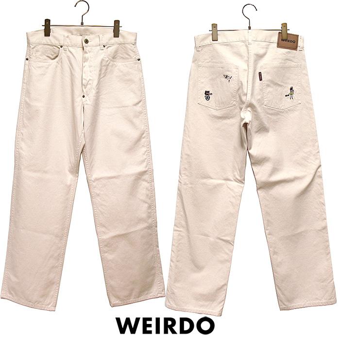 WEIRDO/ウィアード by GLADHAND - Wolf Bait Pants - 刺繍デザインコットンキャンバスワークパンツ本品はポイント+1倍です!