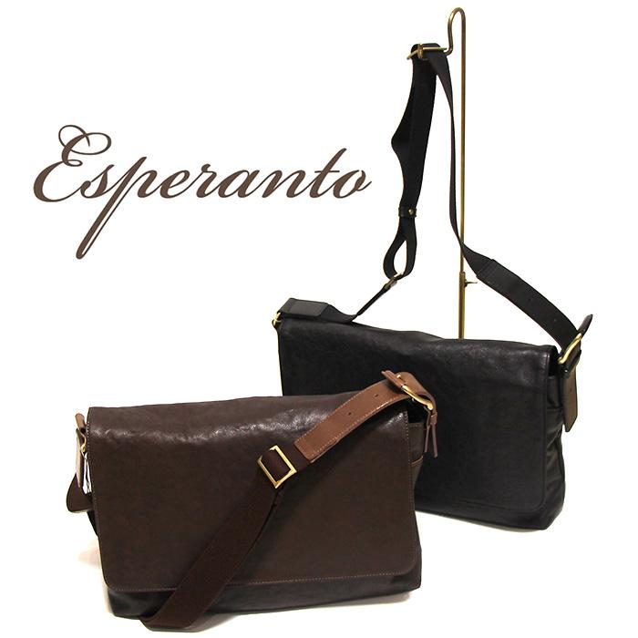 esperanto(エスペラント) ウォッシュイタリアンレザーショルダーバッグ