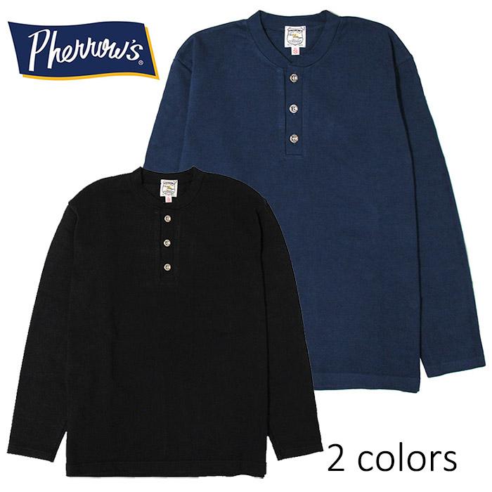 SALE・30%OFF【セール】PHERROW'S(PHERROWS)/フェローズ度詰めヘビー天竺ヘンリーネックTシャツ本品はポイント+1倍です!
