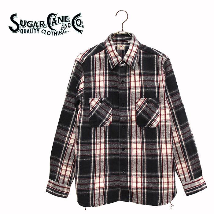 SUGAR CANE(シュガーケーン)チェック柄フランネルワークシャツ