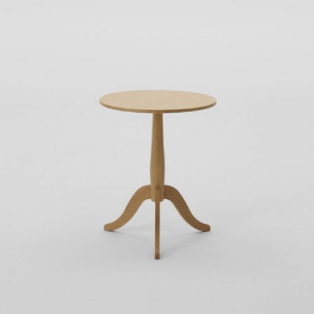 マルニコレクションmarunicollectionClubクラブサイドテーブルオーク材ナチュラルホワイト色(3530-30)