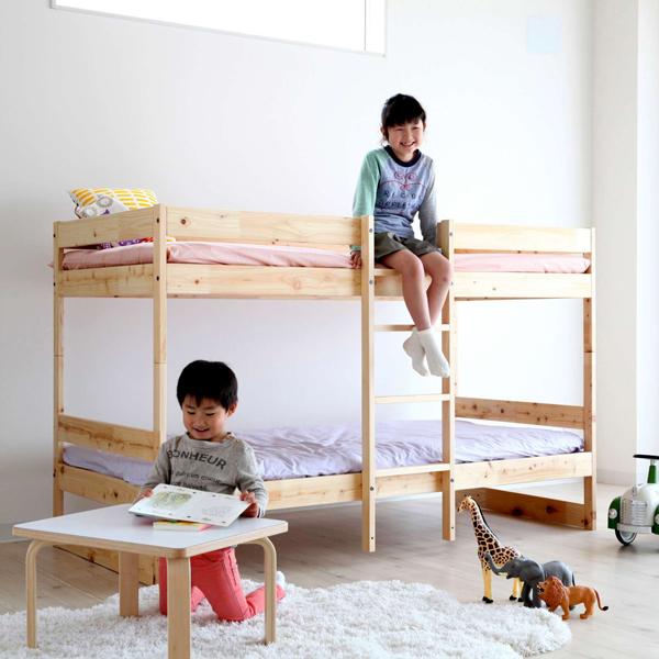 Homecomingひのきの二段ベッド(ナチュラル)NH01B-HKN【P10】[沖縄・北海道配送不可]