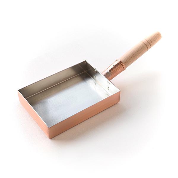 工房アイザワ銅玉子焼器関西型12×16.5cm[プロ仕様純銅製ふんわり玉子焼き]