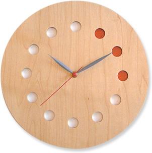 コサインcosine掛け時計<カラー>メープル[木の時計 木製時計 無垢の掛け時計 北欧風のおしゃれな時計]【P10】