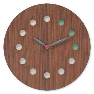 コサインcosine掛け時計<カラー>ウォルナット[木の時計 木製時計 無垢の掛け時計 北欧風のおしゃれな時計]【P10】