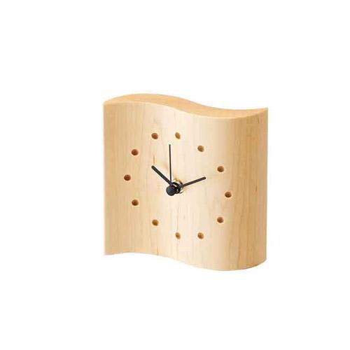 cosine(コサイン)マイン時計<小>メープル[木の時計木製時計無垢の掛け時計北欧風のおしゃれな時計名入れ可能]【P10】