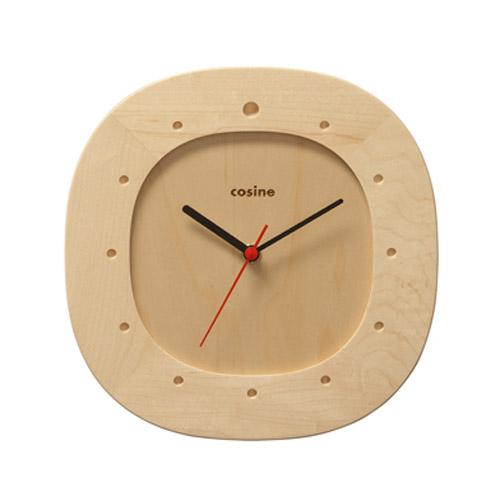 【国産】 cosine(コサイン)オーバル掛け時計・メープル材[木の時計 木製時計 無垢の掛け時計 北欧風のおしゃれな時計]【P10 木製時計】, 嘉穂郡:ccde56b0 --- bibliahebraica.com.br