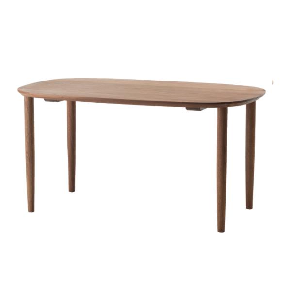 コサインダンランテーブル幅140cmウォルナットTD-05NW【P10】[沖縄配送不可]