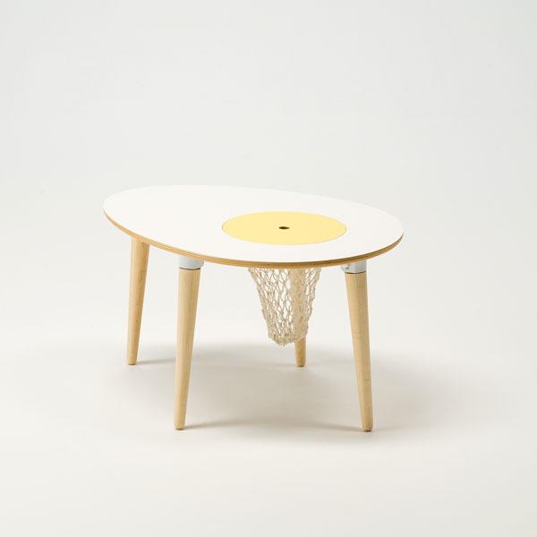 cosine(コサイン)タマゴテーブル(ネット付き・高さ445mmタイプ)【P10】[沖縄配送不可]