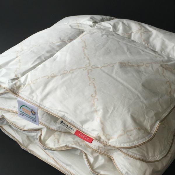 贈り物 IWATAイワタの寝具敷き寝具ダウン敷パッドセミダブル120×200cm 数量は多 0.8kg P5 高級寝具快適快眠夏涼しいプレゼントギフト健康送料無料