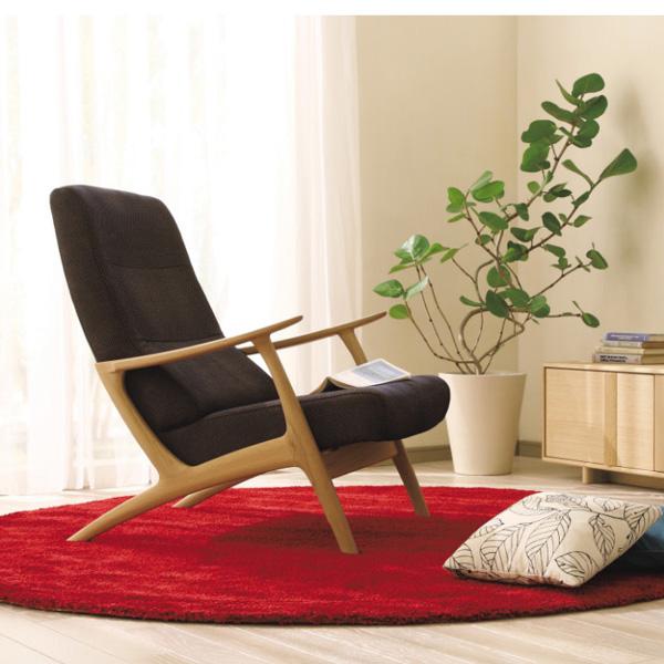 カリモクカリモク家具Karimoku送料無料平織布張椅子リクライニング安楽椅子【P10】