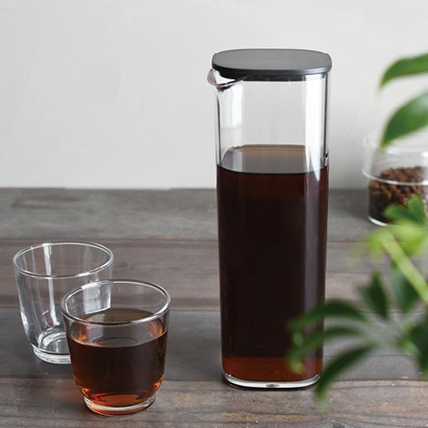 KINTO[キントー]OVA(オーヴァ)ウォーターカラフェ1Lブラック(22370)[お茶麦茶ポットピッチャーカラフェ樹脂ポットプラスチックポット]