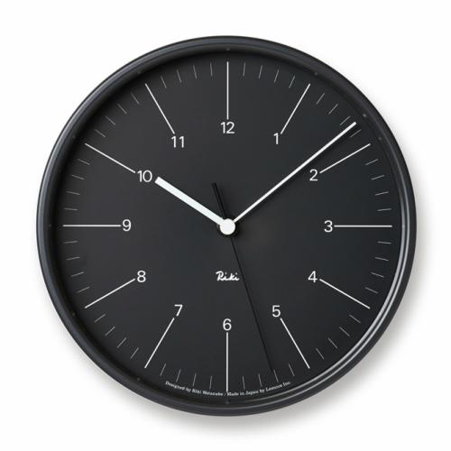 [ポイント最大42倍]タカタレムノス 渡辺力スチールクロック ブラック 細数字WR17-10BK[小さな壁時計 パーソナルクロック]【P10】
