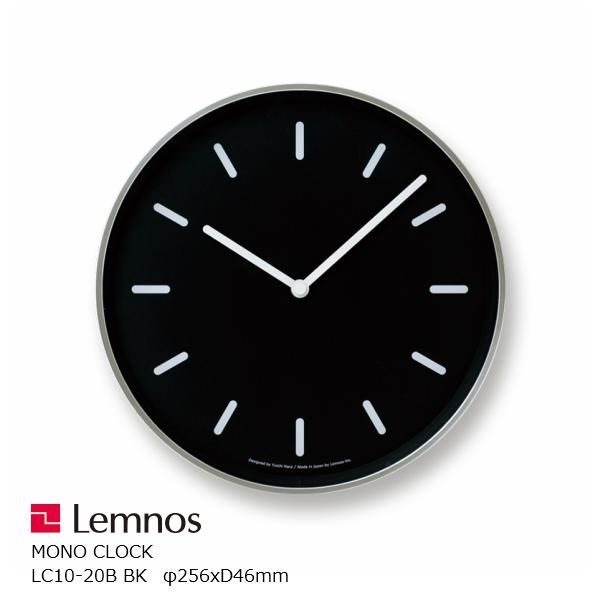 ピアノの鍵盤のように白黒はっきりとしたデザイン LEMNOS レムノス 壁掛け時計奈良雄一MONOClock モノクロック マーケティング ブラックBlm-LC10-20BBK 新作多数 掛け時計 P10 電波時計 おしゃれ 北海道配送不可 沖縄 北欧風