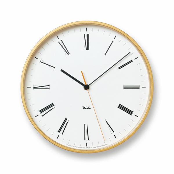 タカタレムノス 渡辺力RIKI ROMAN CLOCK WR17-12リキローマンクロックφ251×d60mm1,080g[スイープセコンド モダンクロック パーソナルクロック]