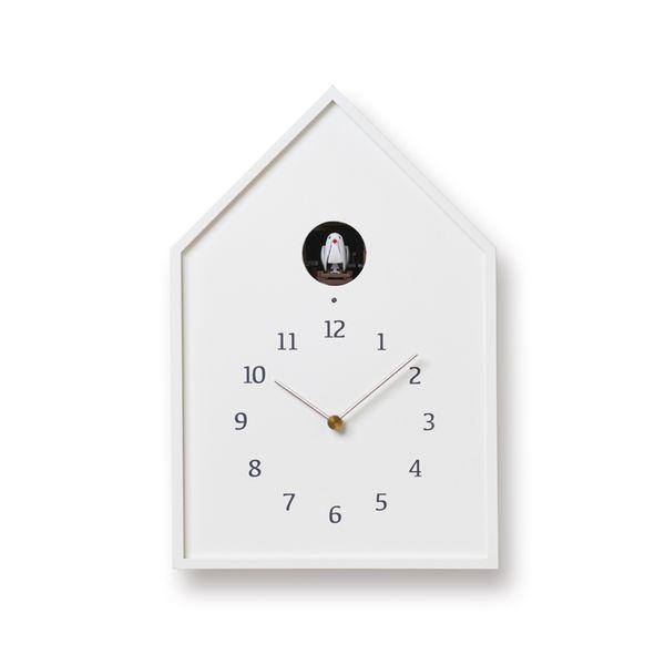 タカタレムノスBirdhouseClockホワイト(NY16-12WH)[カッコー時計鳩時計]【P10】[沖縄・北海道配送不可]