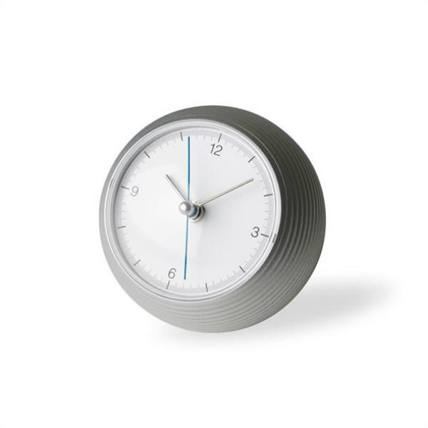 LEMNOS(レムノス)置き時計earthclockアースクロックシルバーφ100mm(TIL16-10SL)[置き時計]【P10】[沖縄・北海道配送不可]