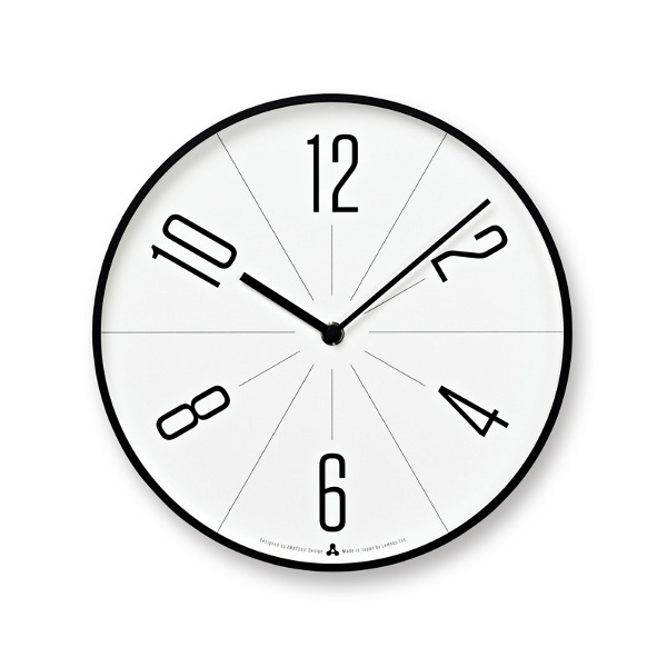 レムノスlemnos壁掛け時計GUGUググブラック枠色AWA13-02BK【P10】