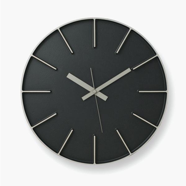 [お得なクーポン発行中]LEMNOS(レムノス)壁掛け時計EdgeClockBlackエッジクロックブラックФ350×D55mmAZ-0115BK【P10】