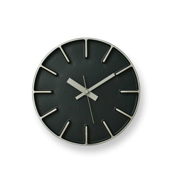 LEMNOS(レムノス)壁掛け時計EdgeClockBlackエッジクロックブラックФ180×D40mmAZ-0116BK【P10】