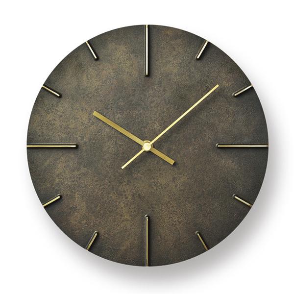 LEMNOS(レムノス)壁掛け時計 Quaint/斑紋黒染色(AZ15-06BK)[ウォールクロック 高級感 安積伸 日本製 新築祝 開業祝]【P10】