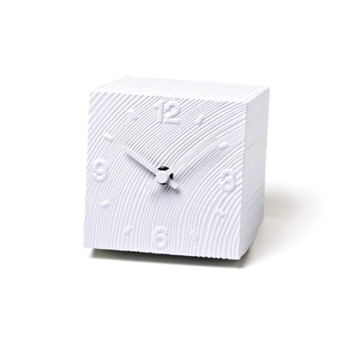 [ポイント最大42倍]LEMNOS(レムノス)置き時計安積朋子cubeホワイトAZ10-17-WH【P10】【10P04Aug18】