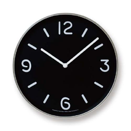 LEMNOS(レムノス)壁掛け時計奈良雄一MONOClock(モノクロック)ブラックAlm-LC10-20ABK【P10】