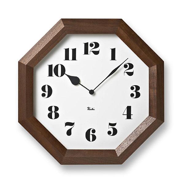 渡辺力 八角の時計WR-11-01[デザイン時計 掛時計 モダン 風水]【P10】【10P04Sep18】