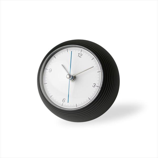 LEMNOS(レムノス)置き時計earthclockアースクロックブラックφ100mm(TIL16-10BK)[置き時計]【P10】