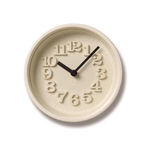 LEMNOS(レムノス)壁掛け時計・置き時計渡辺力小さな時計WR-07-15アイボリー【P10】