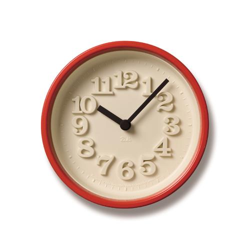 LEMNOS(レムノス)壁掛け時計・置き時計渡辺力小さな時計WR-07-15レッド【P10】