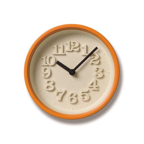 LEMNOS(レムノス)壁掛け時計・置き時計渡辺力小さな時計WR-07-15オレンジ【P10】