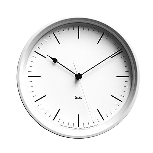 LEMNOS(レムノス)壁掛け時計渡辺力RikiSteelClock電波時計WR0824ホワイト【P10】