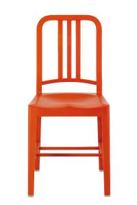 玄関先迄納品 アルミの軽い椅子ネイビーチェア111NavyChairオレンジ[エメコemecoアルミ椅子お洒落][お取り寄せ], ドレスショップJewel:cd19a4b2 --- canoncity.azurewebsites.net