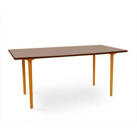 長大作マッシュルームベーステーブル(MushroombaseTable)ブラウンW1600
