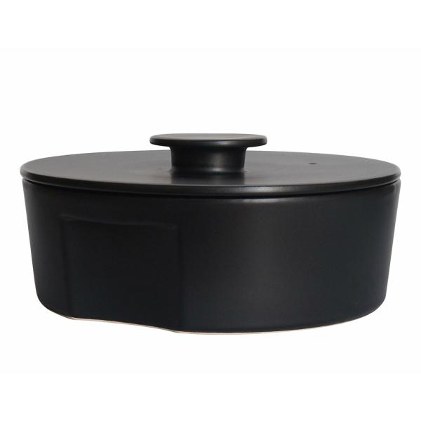 CeramicJapan(セラミックジャパン)土鍋do-nabeLサイズブラック[土鍋電子レンジ可オーブン可]