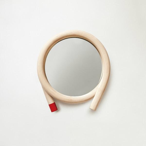 壁掛けミラーWAWAレッドトラフ建築設計事務所[受注生産品:キャンセル不可]【P10】