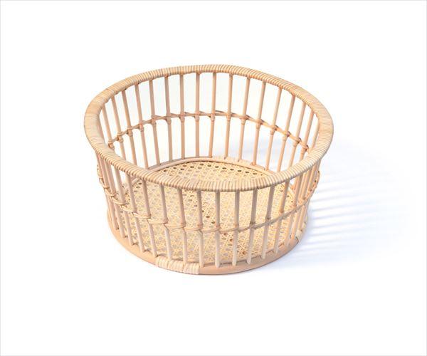 ツルヤ商店hairu(ハイル)脱衣かごラウンド小野里奈[籐製かご バケット ラタン 天然素材]
