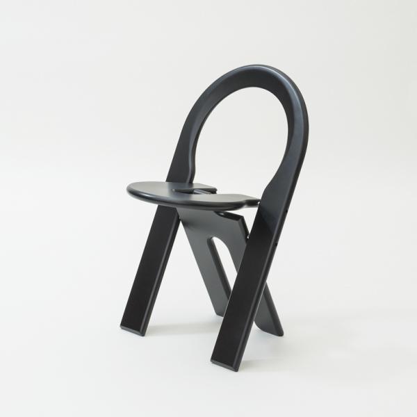 TSチェア ブラック幅460×奥行460×高さ730mmロジェ・タロン[ TS chair 北欧 フランス セントゥ 折りたたみ椅子 ビーチ材 ]