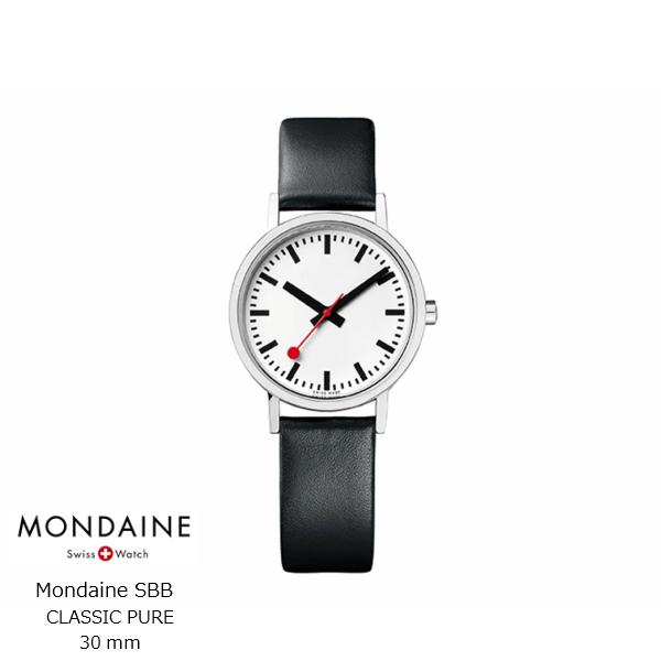 MondaineSBBクラシックピュア30mmリストウォッチ[腕時計モンディーン][お取り寄せ品][納期遅延対象商品][沖縄・北海道配送不可]