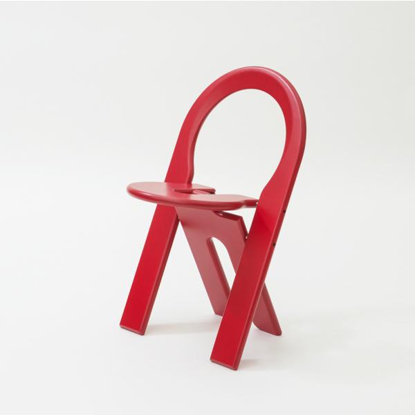 TSチェア レッド幅460×奥行460×高さ730mmロジェ・タロン[ TS chair 北欧 フランス セントゥ 折りたたみ椅子 ビーチ材 ]