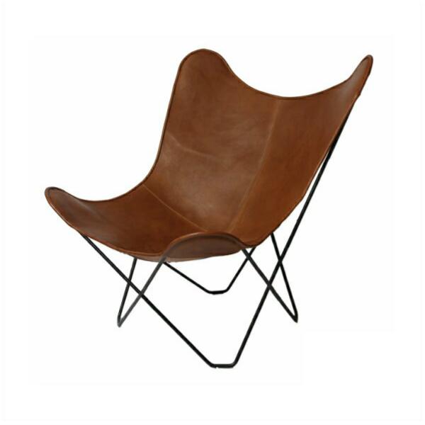 BKFバタフライチェア Butterfly Chairブラウンレザー[MoMA ミッドセンチュリー コルビジエ イームズ 西海岸 北欧][お取り寄せ]【P10】