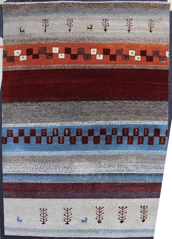 スプリングヴァレーアンカラトライバルANKARATribal(ハンドルーム手織り)カビールKavir(147)60×90cm【手織りラグギャベ絨毯ウール100%】【P10】