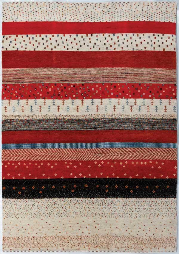 [ポイント最大42倍]北欧のラグアンカラトライバルANKARATribal(ハンドルーム手織り)ゴレスタンGolestan(163)60×90cm【手織りラグギャベ絨毯ウール100%】【P10】【10P04Aug18】