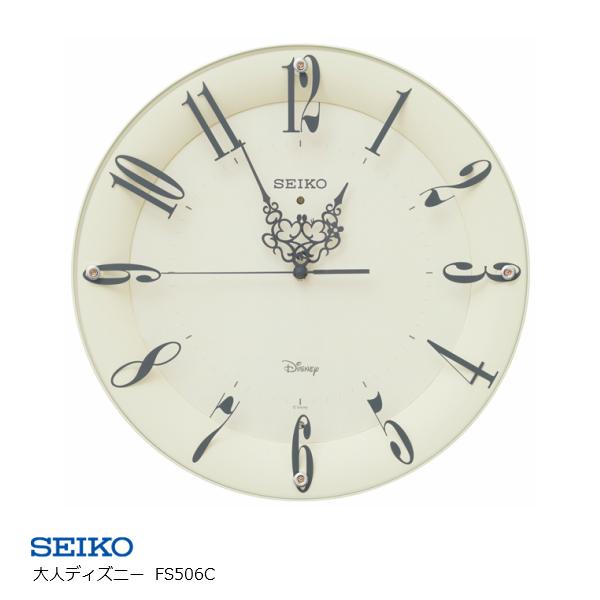 セイコークロック SEIKOディズニー 掛け時計壁掛け 電波時計 FS506C[大人ディズニー ミッキー ミニー ミッキー&フレンズ キャラクター スイープ]