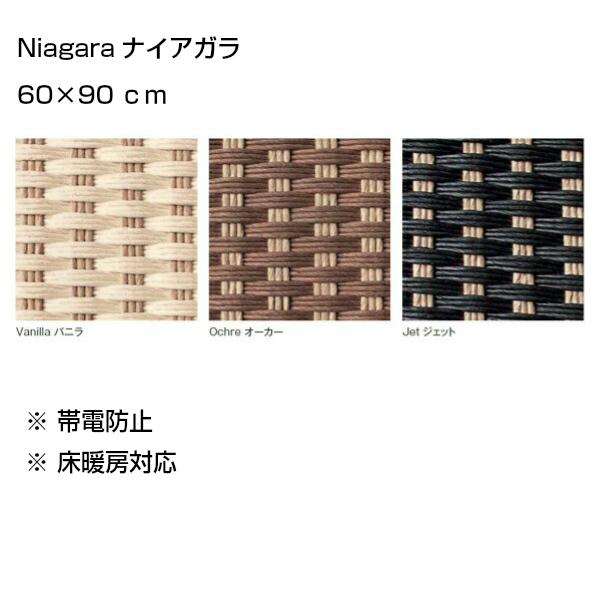 NIAGARAナイアガラ60×90cmトリミング:コットンヘム[アディロンダックぺーパーコードラグ]
