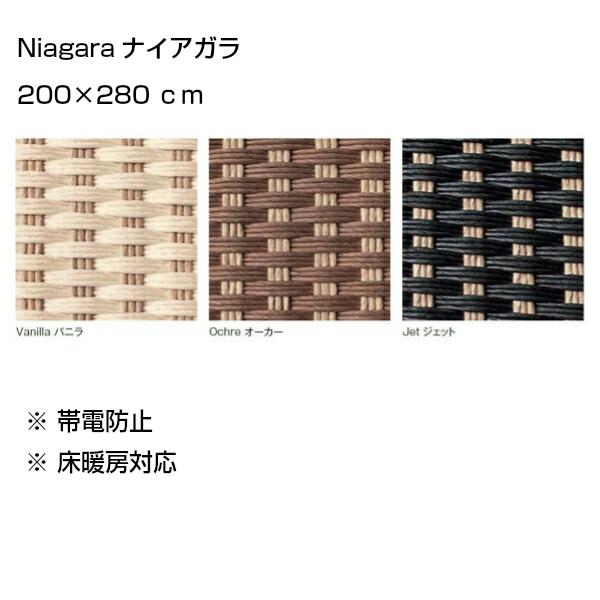 NIAGARAナイアガラ200×280cmトリミング:コットンヘム[アディロンダックぺーパーコードラグ]