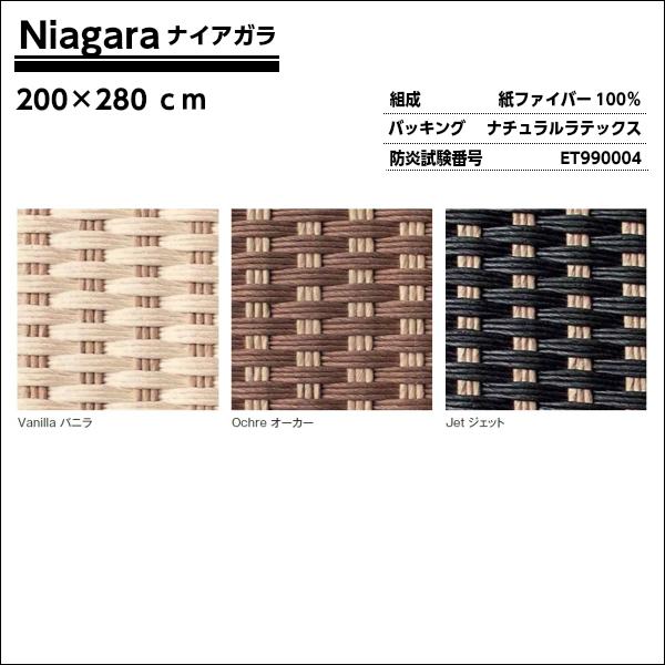 [ポイント最大42倍]NIAGARAナイアガラ200×280cmトリミング:コットンヘム[アディロンダックぺーパーコードラグ]